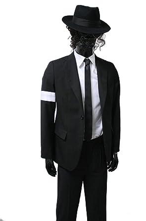 fd29d2fbbcced Amazon.com  Michael Jackson Costume Adults Child Dangerous Armband Suit  Black Suit Full Outfit (Height  4.3(Slim Fit)