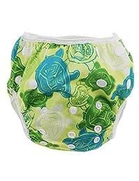 Baoblaze Baby Adjustable Snap Swim Diapers Toddlers Reusable Waterproof Swimming Shorts - Tortoise, as described
