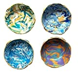 Marbled Ring Dish Set of 4 - Jewelry Dish - Polymer Clay Dish - Trinket Dish - Bridal Shower Gift