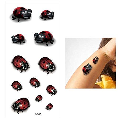 Red ladybug Hummingbird bee moth FAKE TATTOO Honey bee bumble bee gothic queen been moth temporary tattoo METALLIC FLASH body jewelery tattoo body stickers butterflies & moth decals]()