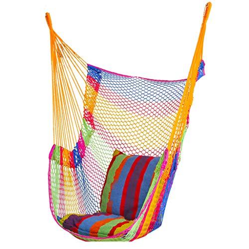 (Haodan electronics-swings Breathable Ice Mesh Hanging Chair Single Hammock Swing Outdoor Mesh Hammock Hanging Chair Adult Children Swing (Color : A))