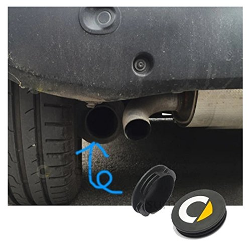 KMT 2pcs Rear Waterproof Anit Rust Tail Pipe Exhaust Tip Cover Protector -Car Styling Accessories for Smart 451 453 Fortwo Forfour