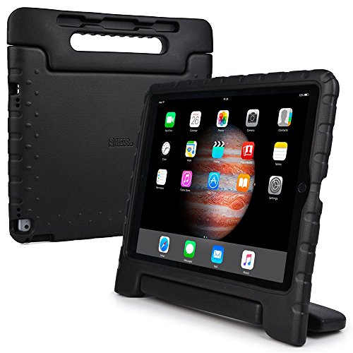 iPad Pro 12.9 kids case, COOPER DYNAMO Rugged Heavy Duty Children's Boys Girls Rubber Drop Proof Protective Carry Case Cover Handle, Stand & Screen Protector for Apple iPad Pro 12.9 inch Black