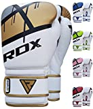 RDX Ego Boxing Gloves Muay Thai Training Maya Hide Leather Sparring Bag Mitts