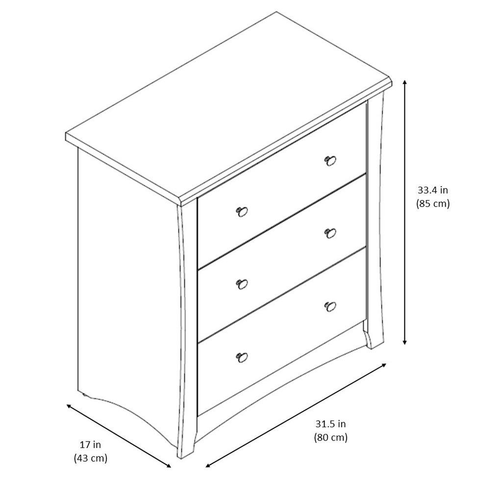 Storkcraft Crescent 6 Drawer Dresser Ideal for Nursery Toddlers Room Kids Room Kids Bedroom Dresser with 6 Drawers Black Wood and Composite Construction
