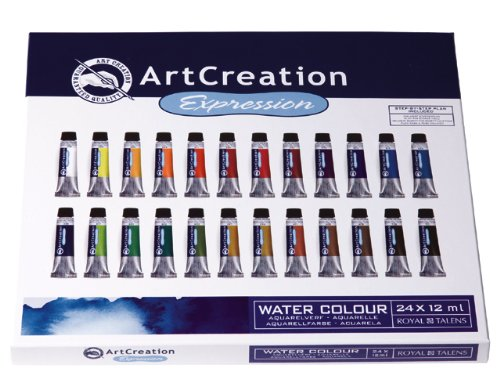 Art Creation Paint Set - watercolour set of 24 x 12ml Royal Talens