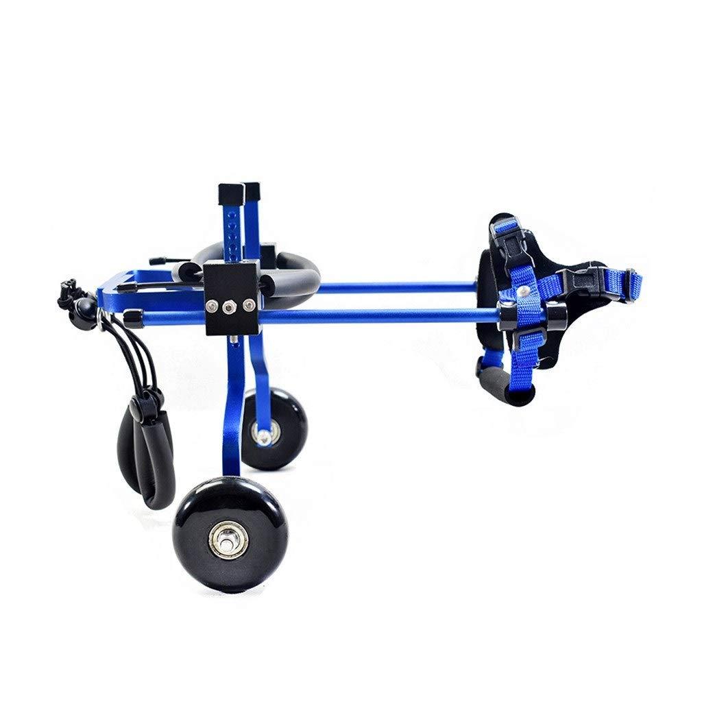 bluee Large bluee Large ZPWSNH Adjust Dog Pet Wheelchair Hind Leg Repair   2 Wheel Dog Cart Pet Rehabilitation Training Car Pet car seat (color   bluee, Size   L)