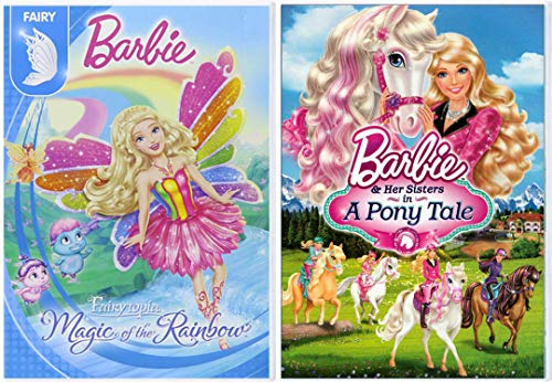(A Very Fairy Friends Barbie Pony Tale & Her Sisters + Magic of the Rainbow Fairytopia Barbie 2 Pack Girls Fun Adventure Cartoon DVD Double Feature Movie Collection 2 pack)
