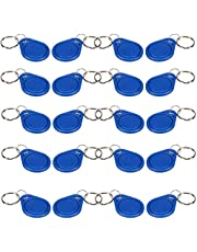 125KHz RFID Proximity ID Card Key Keyfobs ewritable Access Control (Blue),20Pcs