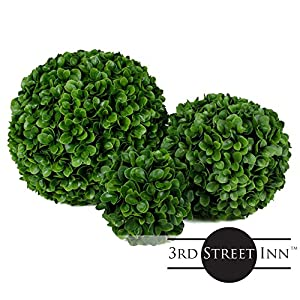 3rd Street Inn Topiary Ball - Artificial Topiary Plant - Wedding Decor - Indoor/Outdoor Artificial Plant Ball - Topiary Tree Substitute 7