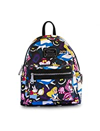 Loungefly Alice In Wonderland Print Mini Faux Leather Backpack