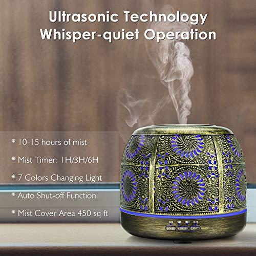 SALKING – Diffusore di Oli Essenziali, 500 ml, a ultrasuoni