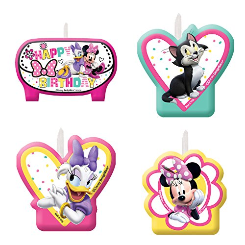Minnie Mouse Happy Helpers Plastic Molded Candles (4 ct)