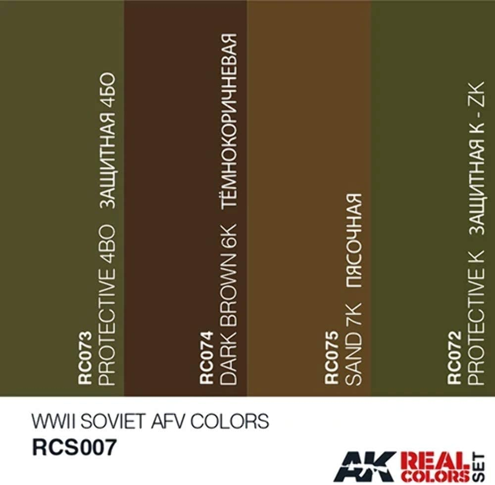 WWII Soviet AFV Colours AKRCS007 4 - AK Real Colours