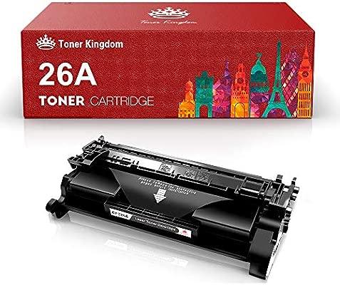 Toner Kingdom 26A CF226A Cartucho de Tóner HP Compatible/ 3,100 Páginas/Negro/para Impresora HP Laserjet Pro MFP M426dw M426fdw M426fdn HP Laserjet ...