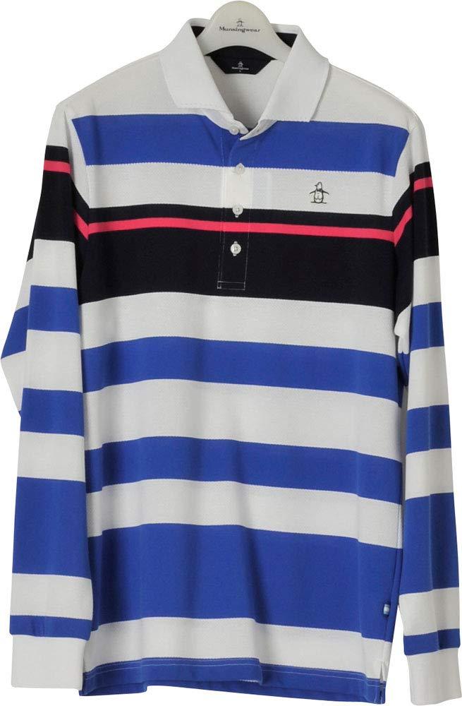 激安店舗 Munsingwear(マンシングウェア)メンズ ゴルフウェア 長袖ポロシャツ トップス Medium MGMLJB04 MGMLJB04 Medium WHBL トップス B07QN22YXG, VALUE BOOKS:e7b2b869 --- valsero.net