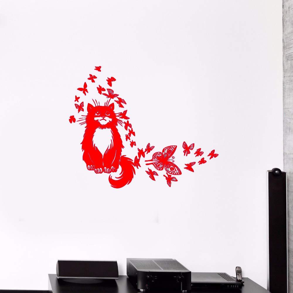 guijiumai Vinilo Tatuajes de Pared Cute Cartoon Clever Cat ...