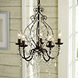Amazon hampton bay 5 light oil rubbed bronze crystal aero snail north american country style crystal 5 light chandelier lighting metal pendant lamp aloadofball Image collections