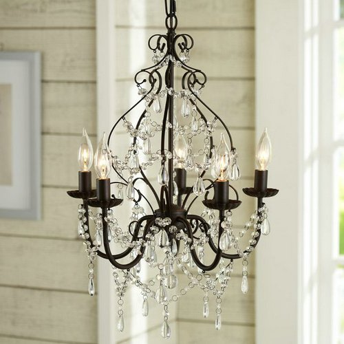 - Aero Snail North American Country Style Crystal 5-Light Chandelier Lighting Metal Pendant Lamp