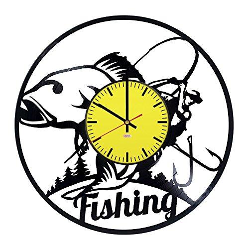 Big Fish Vinyl Record Wall Clock