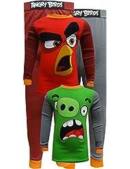 Angry Birds Cotton 4 Piece Pajamas for boys
