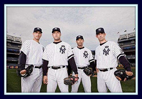 Core Four 4 At Yankee Stadium 11x14 Double Matted 8x12 Photo Derek Jeter Mariano Rivera Andy Pettite Jorge Posada Ny Yankees
