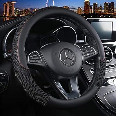Cxtiy Universal Car Steering Wheel Cover Fluffy Winter Plush Steering Wheel Cover