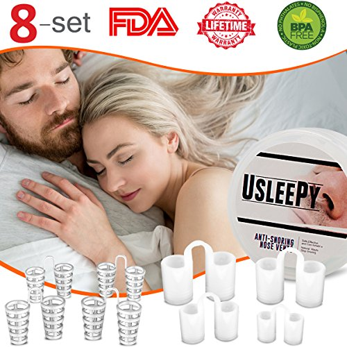 Upgrade Snoring Solution Device, 8 Set Anti Snoring Nasal Dilator 4 Size Nose Vents Stop Snoring Aid Snore Stopper Reduce Snoring for Ease Breathing Comfortable Sleeping (Anti Snoring Device)