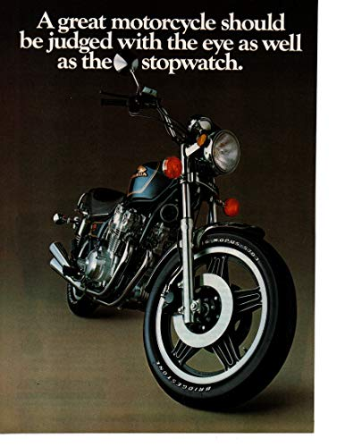 """Magazine Print Ad: 1981 Honda CB750 Custom Motorcycle""""A Great Motorcycle Should Be Judged With the Eye As Well As the Stopwatch"""""""