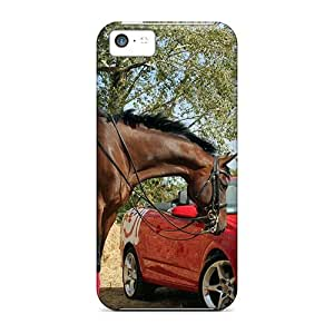 fenglinlinUPn6582XOvx 88caseme Beautiful Horse Red Car Feeling Iphone 5c On Your Style Birthday Gift Covers Cases