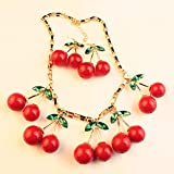 Winter.Z Cherry Suit Necklace Exaggerated Fashion Sweater Chain