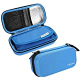 Insulin Pen Case Cooling Protector Bag Waterproof Portable Pouch Cooler Travel Diabetic Pocket, Built-in Temperature Display, FDA Certification(Blue)