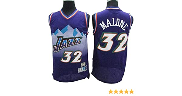 LLZYL Maillot De La Maillot Cl/ásico All-Star De Utah Jazz # 32 Karl Malone Tejido Vintage Transpirable Uniforme De Baloncesto Unisex