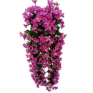 MARJON FlowersHanging Wall Artificial Flowers Fake Wisteria Vine Silk Flower for Wedding Decorations Home Garden Party Decor Simulation Flower 4