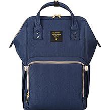 SUNVENO Mummy Backpack Travel Bag Multifunction Baby Diaper Nappy Changing Handbag (Navy)