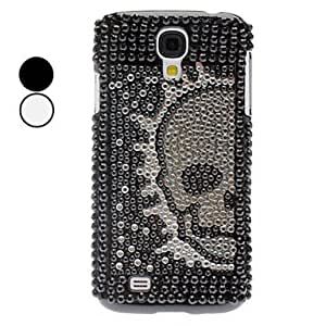Rhinestone Decorated Skull Pattern Hard Case for Samsung Galaxy S4 I9500 (Assorted Color) --- COLOR:Black