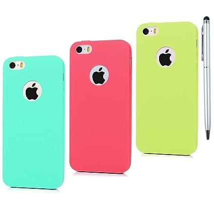 3x Funda iPhone 5 / iPhone 5S, Carcasa Silicona ...