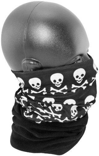 Zan Headgear Combo Motley Tube , Size: OSFM, Distinct Name: Crossbones, Primary Color: Black, Gender: Mens/Unisex TC113