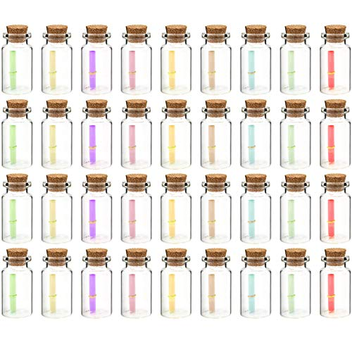 - Gift Boutique 36 Tiny Cork Top Glass Message in Bottle Favors, 1.75 inch Drink Message Glass Jar Bottles Cork Top Stopper Party Favor Decoration Celebrate Wedding Fill with Alchohol, Liquer Party Supplies