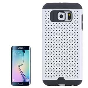Shatter Resistant Tough Armor-Meshy Combination Case Cover Carcasa Para Samsung Galaxy S6 Edge G925 (White) /