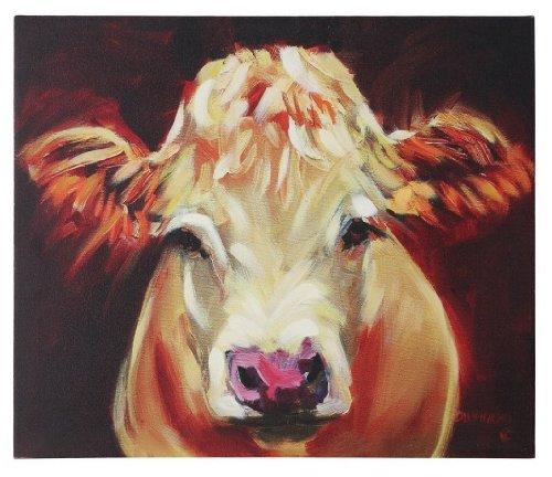 creative-co-op-brown-cow-canvas-wall-decor