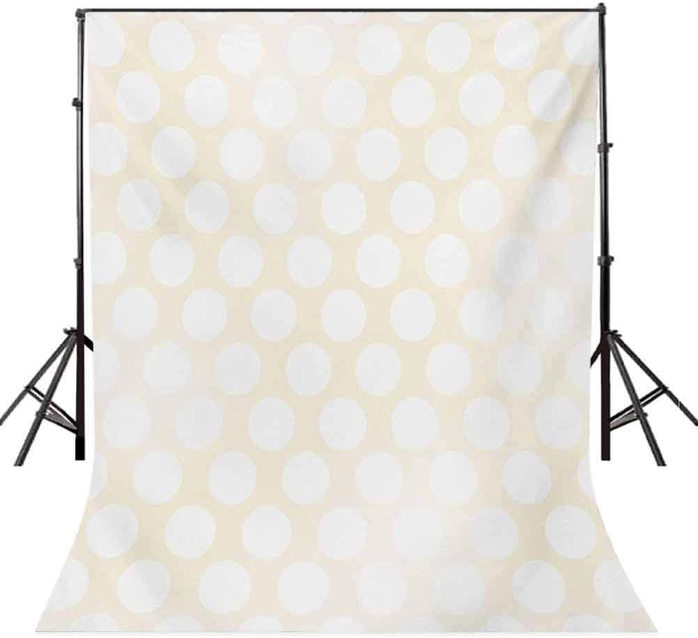 6.5x10 FT Backdrop Photographers,Retro Large Polka Dots Pattern with Big Circles Disc Shaped Rounds Soft Illustration Background for Child Baby Shower Photo Vinyl Studio Prop Photobooth Photoshoot