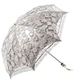 Honeystore Lace Travel Parasol Folding Anti-uv Windproof Embroidery Umbrella 2 Folding Grey