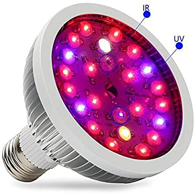 Bulbright 12W E27 LED Plant Grow Light Bulb for Plant Grow, 85-265V