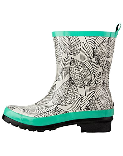 Ankle Mint (Oakiwear Women's Noxon Rubber Rain Boots, Mint Leaf, 7)