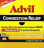 Advil Congestion Relief Non-Drowsy Fever Reducer/Pain Reliever & Decongestant (50-Count Coated Tablets)