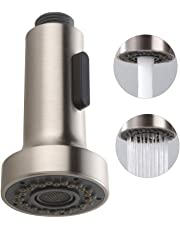 HOMELODY Pull Down Faucet Replacement Head, 2 Functions Kitchen Faucet Sprayer Head, G 1/2 Pull Out Spray Head for Kitchen Faucet, Brushed Nickel Kitchen Sink Faucet Head