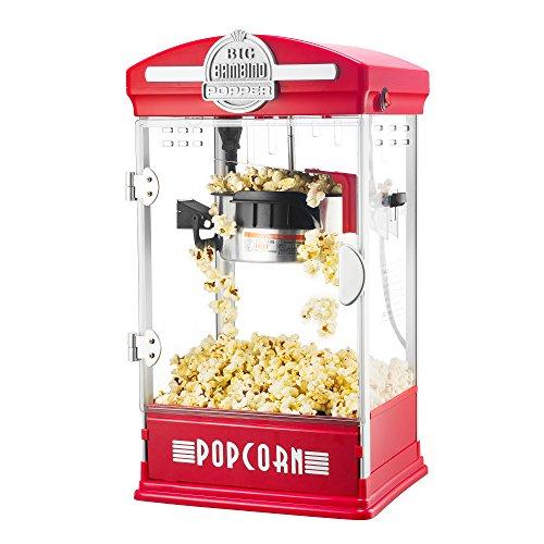 6076 Great Northern Red Big Bambino Table Top Retro Machine Popcorn Popper, 4 oz