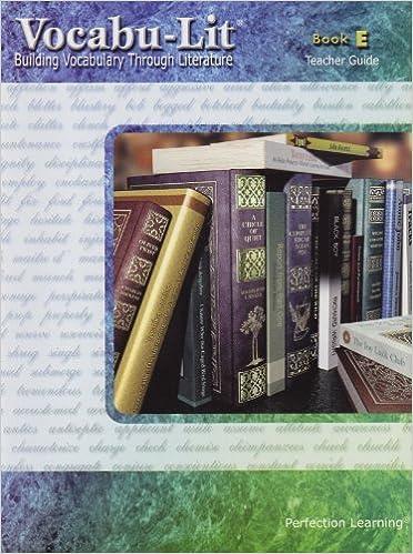 Book Vocabu-Lit Book E Teacher Guide (Perfection Learning)