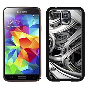 Beautiful Custom Designed Cover Case For Samsung Galaxy S5 I9600 G900a G900v G900p G900t G900w With Grey 3D Lines Phone Case